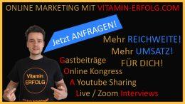 Online Marketing mit Vitamin-Erfolg.com - Gemeinsam mehr Reichweite erreichen - Gastbeiträge, Interviews und vieles Mehr!