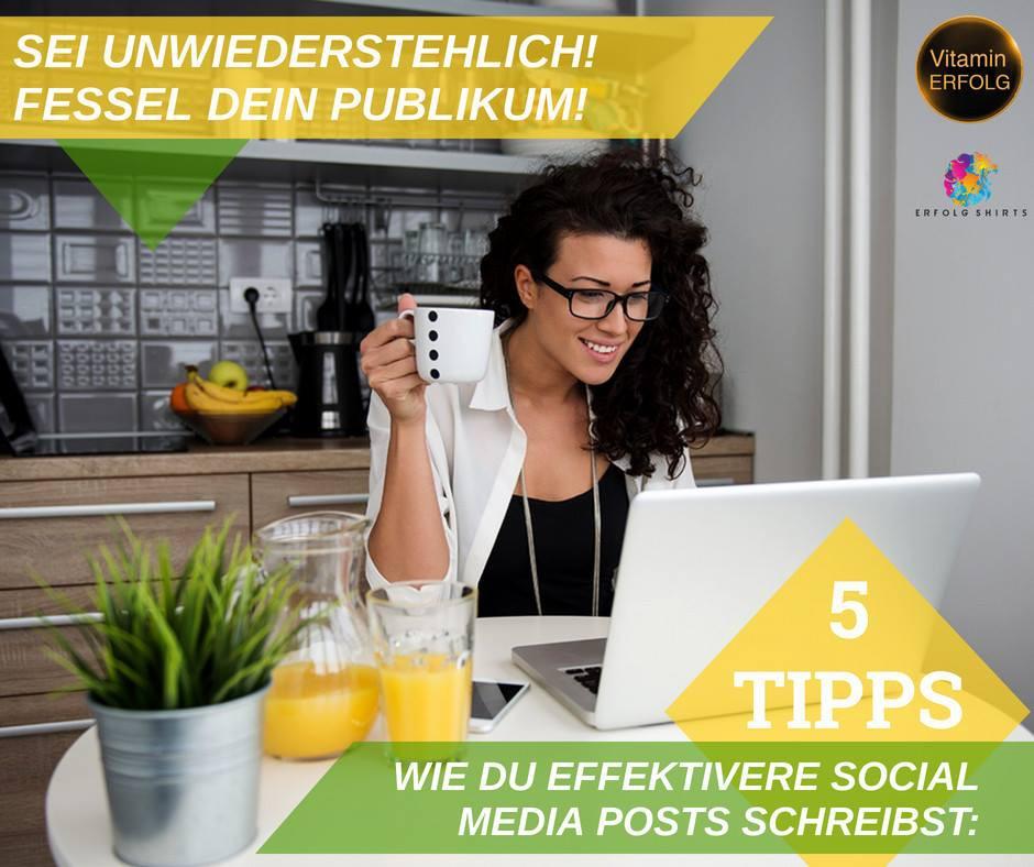 5 Tipps für gute Social Media Posts